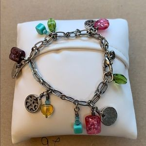 Brighton multi-colored  charm bracelet with tin.